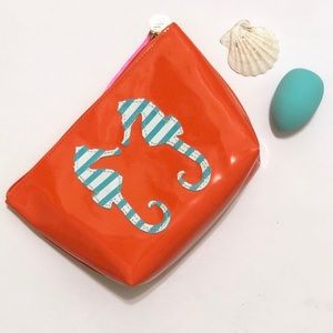 coral cosmetic case